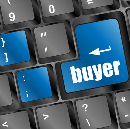 buyer button on keyboard - business concept photo