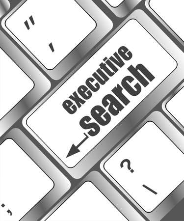executive search button on the keyboard close-up photo