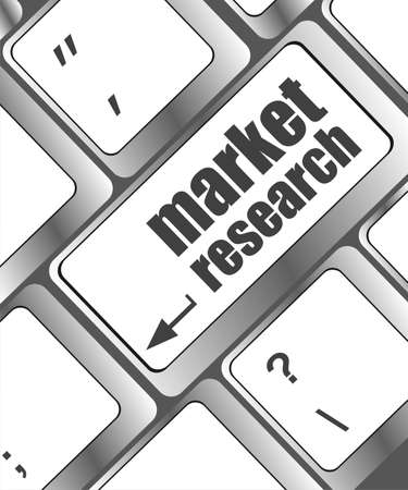 market research word button on keyboard photo