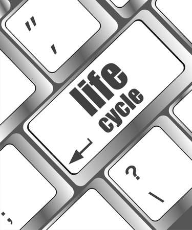 life cycle on laptop keyboard key photo