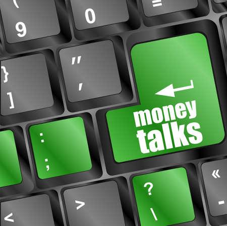 talks: Marketing concept: computer keyboard with word money talks Stock Photo