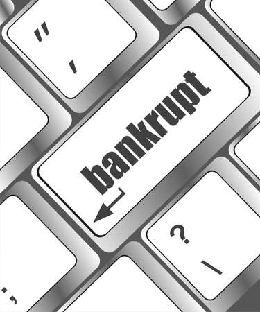 A keyboard with key reading bankrupt Stock Photo - 22618028