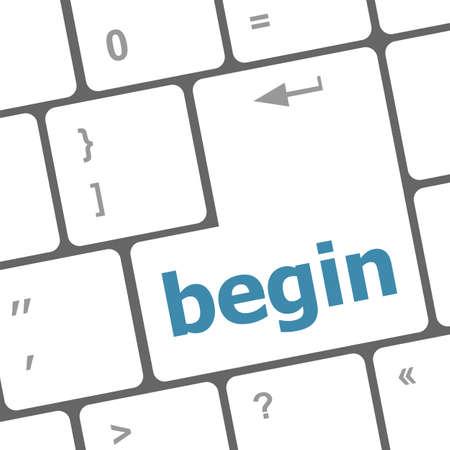 empezar: comenzar� palabra clave en el teclado, bot�n del ordenador port�til