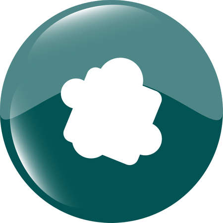 Glossy cloud web button icon photo