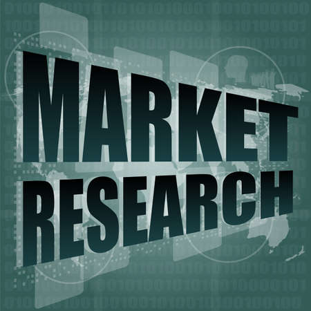 market research word on touch screen, modern virtual technology  photo