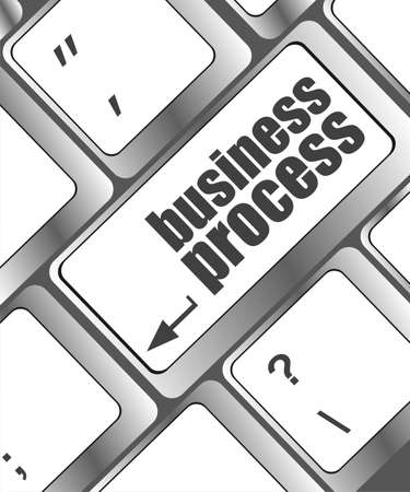 keyboard key with business process button photo