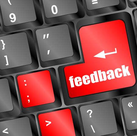 feedback on computer keyboard key button photo