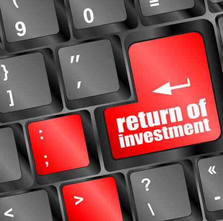 invest or investing concepts, with a message on enter key or keyboard Stock Photo - 22998643