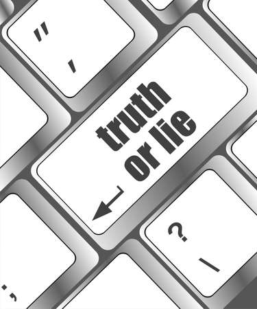 Wording truth or lie on computer keyboard photo