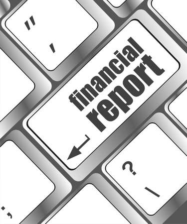 keyboard with financial report button photo