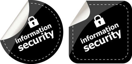 information security black stickers label tag set photo