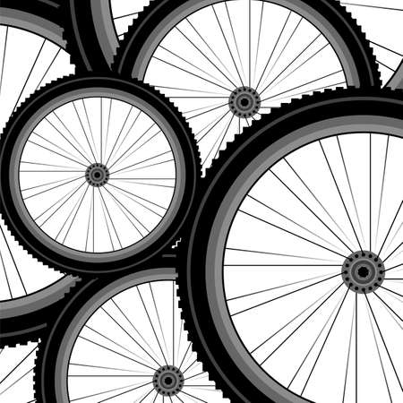 Bicycle wheel set isolated on white photo