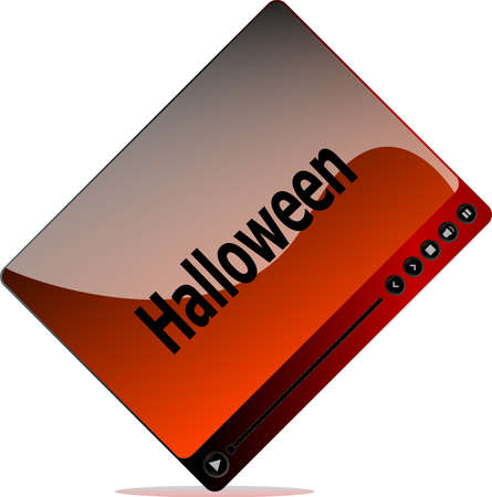 Video movie media player with halloween word on it photo