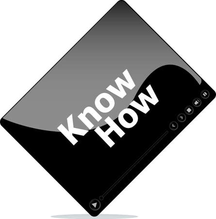 know how: know how on media player interface Stock Photo