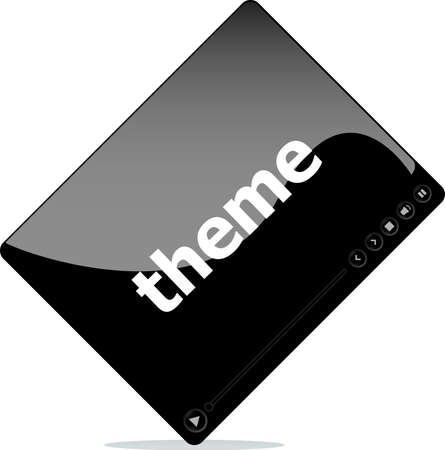Video player for web, theme word on it photo