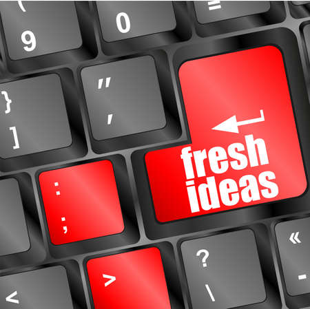 fresh ideas button on computer keyboard key photo