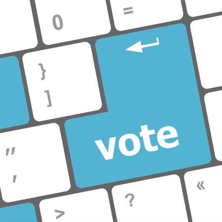 vote button on computer keyboard key Stock Photo - 23453795