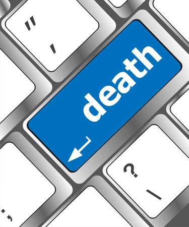 Keyboard key with death word button photo