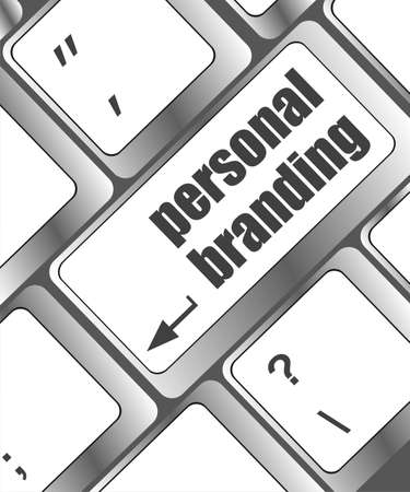 personal branding on computer keyboard key button photo