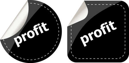 stickers label set business tag with profit word photo