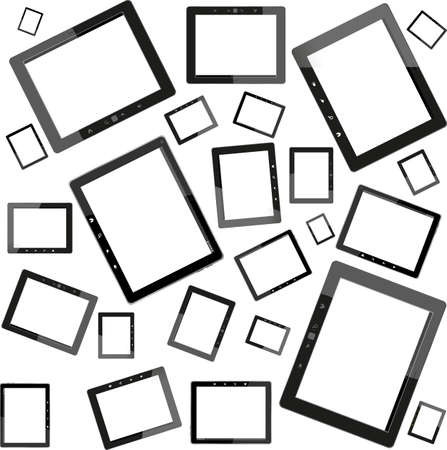Set of tablet pc computers isolated on white background Stock Photo - 23505595
