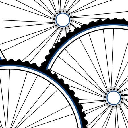 Bicycle wheel set isolated on white photo