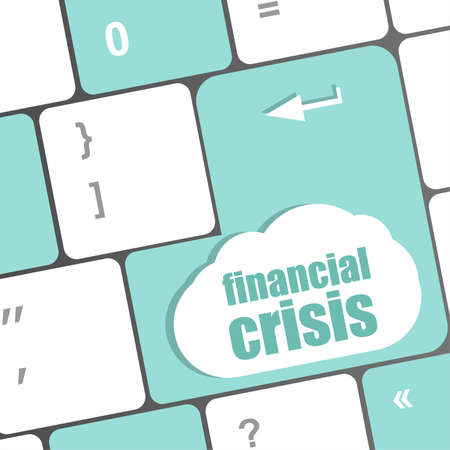 financial crisis key showing business insurance concept photo