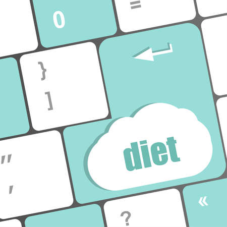 Health diet button on computer pc keyboard photo
