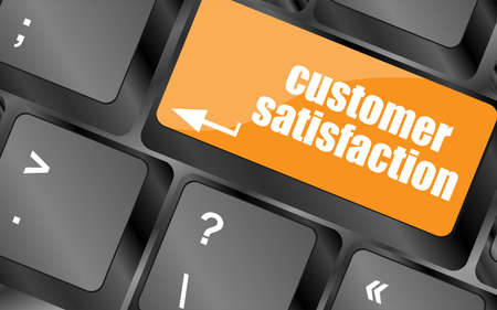customer satisfaction key word on computer keyboard photo