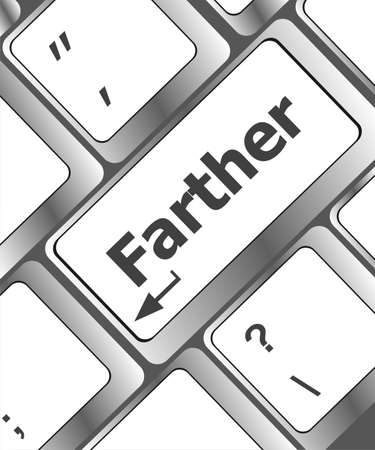 farther: Keyboard with farther text on enter button