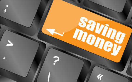 saving money for investment concept with a button on computer keyboard photo