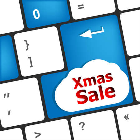 Computer keyboard with holiday key - xmas sale photo