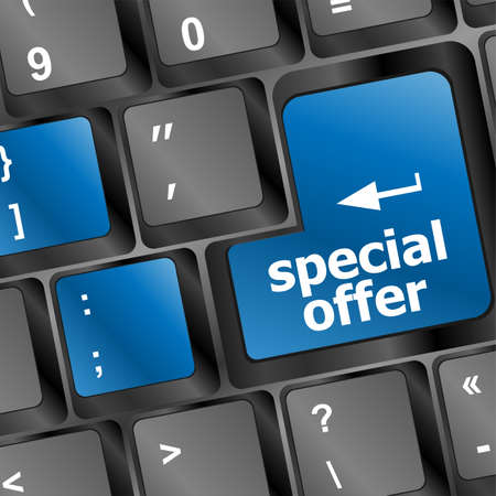 special offer button on computer keyboard Stock Photo - 23952749