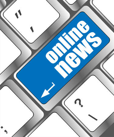 breaking news: online news button on computer keyboard key Stock Photo
