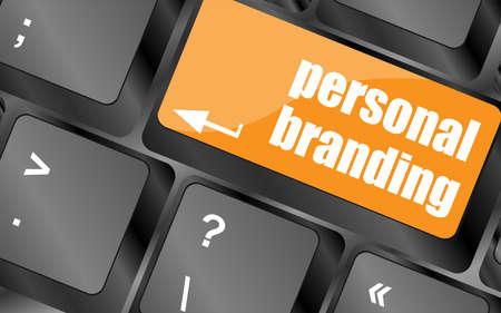 personal branding on computer keyboard key button photo