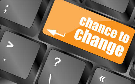 chance to change key on keyboard showing business success photo