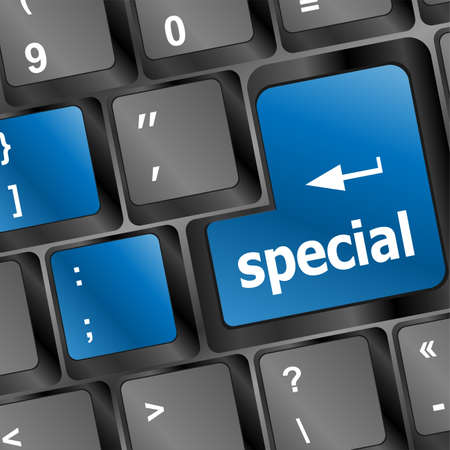 special offer button on computer keyboard Stock Photo - 24121080