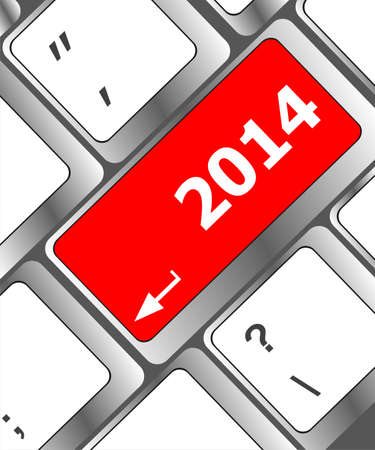 New year concept: welcome 2014 key on the computer keyboard Stock Photo - 24121114