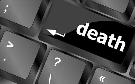 Keyboard with death word button Stock Photo - 24121688