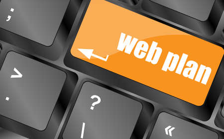 prognoses: web plan concept with key on computer keyboard, business concept