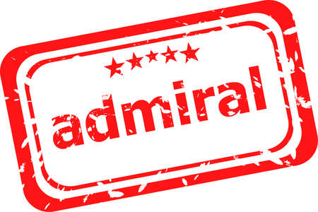 admiral: red rubber stamp with admiral word