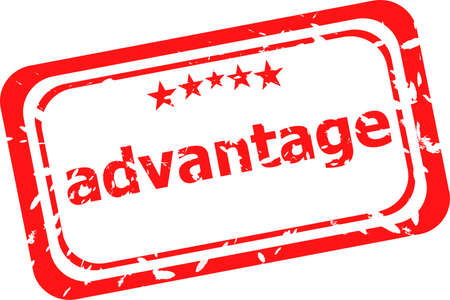 advantage: red rubber stamp with advantage word Stock Photo
