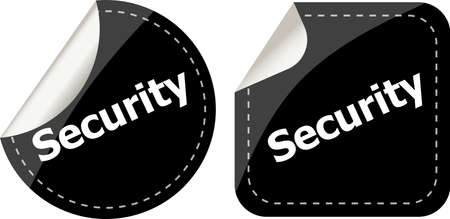 business security black stickers label tag set photo