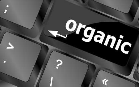 organic word on green and black keyboard button photo