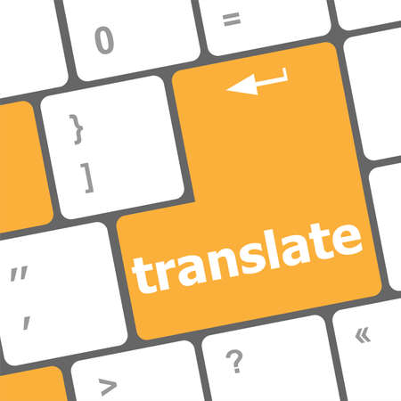 The word Translate on a computer keyboard key or button photo