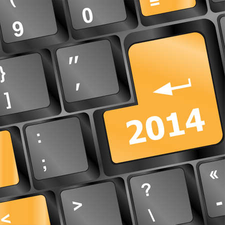 New year concept: 2014 key on the computer keyboard photo
