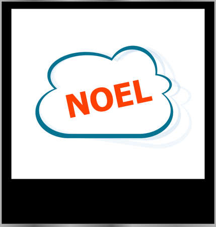noel word on cloud, isolated photo frame photo