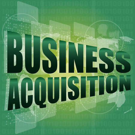 acquisition: business acquisition digital touch screen interface