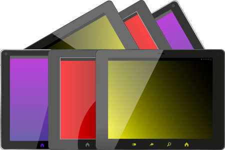 Set of tablet pc computers Stock Photo - 24436125