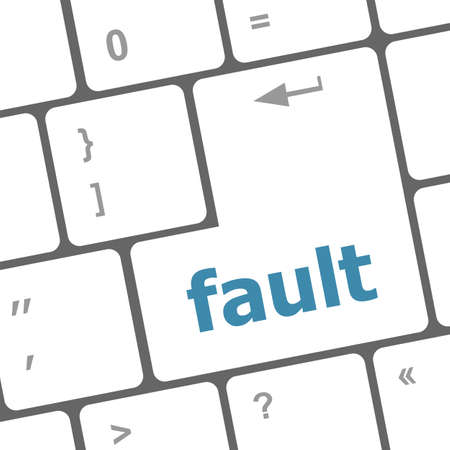 fault button on computer pc keyboard key Stock Photo - 25015881